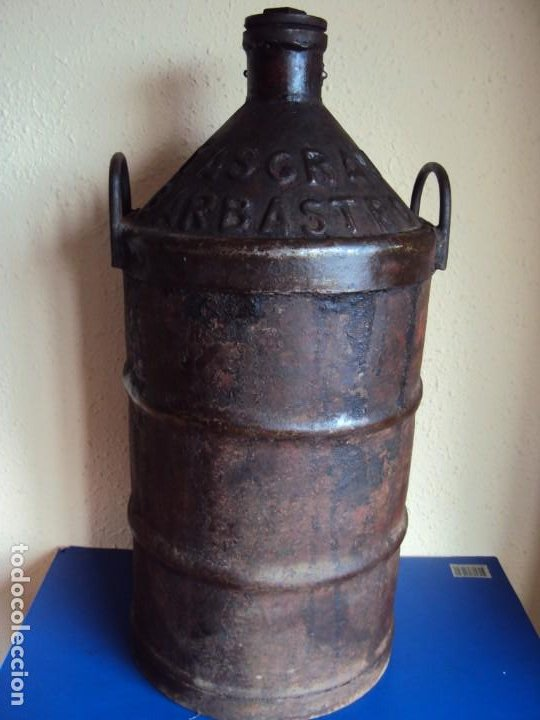 (ANT-200145)GARRAFA DE ACEITE DE HIERRO MASGRAU BARBASTRO (Coleccionismo - Otras Botellas y Bebidas )