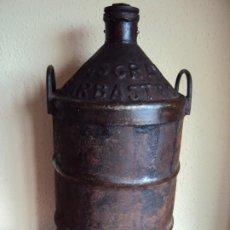 Coleccionismo Otros Botellas y Bebidas: (ANT-200145)GARRAFA DE ACEITE DE HIERRO MASGRAU BARBASTRO. Lote 192125158