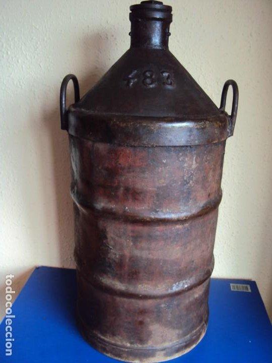 Coleccionismo Otros Botellas y Bebidas: (ANT-200145)GARRAFA DE ACEITE DE HIERRO MASGRAU BARBASTRO - Foto 6 - 192125158