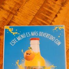 Coleccionismo Otros Botellas y Bebidas: TRINA - PORTA MENÚ - PLÁSTICO ACOLCHADO. Lote 193390342