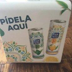 Coleccionismo Otros Botellas y Bebidas: FONT VELLA TÉ - SERVILLETERO - PUBLICIDAD AGUA GIRONA. Lote 193807595