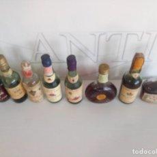 Coleccionismo Otros Botellas y Bebidas: LOTE BOTELLINES PEQUEÑOS BRANDIS, COÑAC, ETC. Lote 193969490
