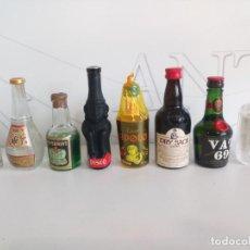 Coleccionismo Otros Botellas y Bebidas: LOTE BOTELLINES PEQUEÑOS BRANDIS, COÑAC, ANÍS,ETC. Lote 193969676
