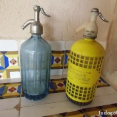 Coleccionismo Otros Botellas y Bebidas: ANTIGUOS SIFONES TOBARRA Y HELLIN(ALBACETE). Lote 194222908