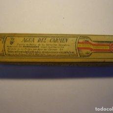 Coleccionismo Otros Botellas y Bebidas: BOTELLA ANTIGUA DE AGUA DEL CARMEN CON SU CAJA ORIGINAL, CARMELITAS DESCALZOS, TARRAGONA... Lote 194308852