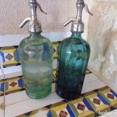 Coleccionismo Otros Botellas y Bebidas: ANTIGUOS SIFONES PINOSO(ALICANTE)JOSE MIRA JOVER-JOSE RICO,LLENOS.MUY ANTIGUOS,DOSIFICADOR CALAMINA. Lote 194323497