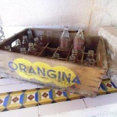 Coleccionismo Otros Botellas y Bebidas: ORANGINA,ESPUMOSOS DR.TRIGO(VALENCIA)ANTIGUA CAJA MADERA CON 15 BOTELLINES,AÑOS 60.. Lote 194334390