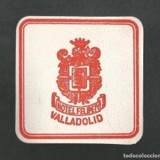Coleccionismo Otros Botellas y Bebidas: POSAVASO HOTEL FELIPE IV VALLADOLID. Lote 194343245