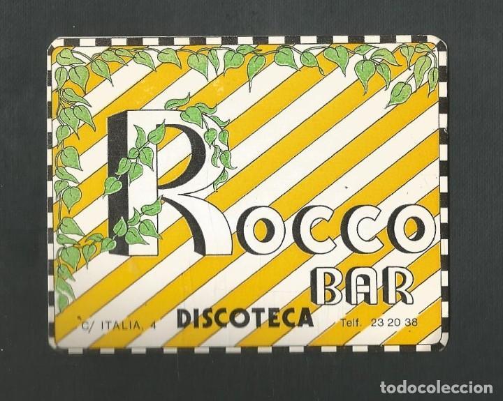 POSAVASO BAR ROCCO DISCOTECA VALLADOLID (Coleccionismo - Otras Botellas y Bebidas )