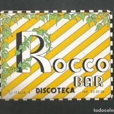 Coleccionismo Otros Botellas y Bebidas: POSAVASO BAR ROCCO DISCOTECA VALLADOLID. Lote 194343323