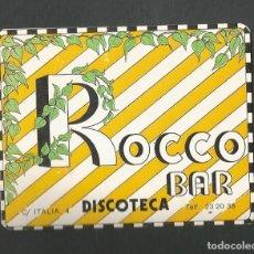 Coleccionismo Otros Botellas y Bebidas: POSAVASO BAR ROCCO DISCOTECA VALLADOLID. Lote 194343358