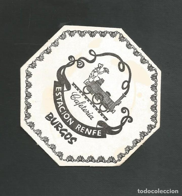 POSAVASO CAFETERIA ESTACION RENFE BURGOS (Coleccionismo - Otras Botellas y Bebidas )