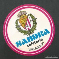 Coleccionismo Otros Botellas y Bebidas: POSAVASO CAFETERIA SANDRA VALLADOLID. Lote 194343450
