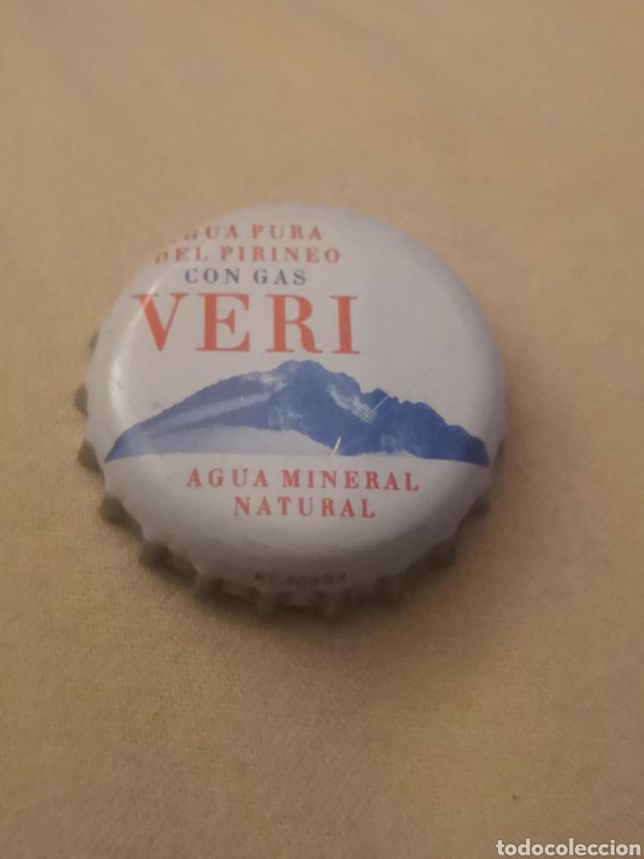 CHAPA AGUA CON GAS VERI. (U) KC40303 (Coleccionismo - Otras Botellas y Bebidas )
