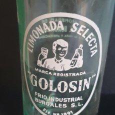 Coleccionismo Otros Botellas y Bebidas: LIMONADA SELECTA GOLOSIN, FRIO INDUSTRIAL BURGALÉS S.L. BURGOS. Lote 194503428