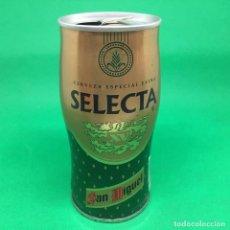 Coleccionismo Otros Botellas y Bebidas: LATA DE CERVEZA SELECTA SAN MIGUEL AÑOS 90S- ESPAÑA/ CAN BEER SPAIN . Lote 194865230