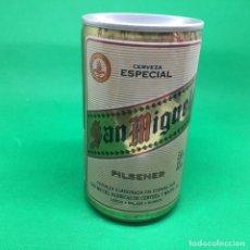 Coleccionismo Otros Botellas y Bebidas: LATA DE CERVEZA SAN MIGUEL LAGER BEER PILSENER ESPAÑA/ CAN BEER SPAIN . Lote 194872065