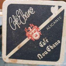 Coleccionismo Otros Botellas y Bebidas: ANTIGUO POSAVASOS CAFE EBANO ALICANTE. Lote 195062746