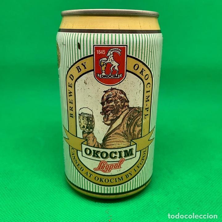 LATA DE CERVEZA OKOCIM LEGPOL - POLONIA / POLISH CAN BEER (Coleccionismo - Otras Botellas y Bebidas )