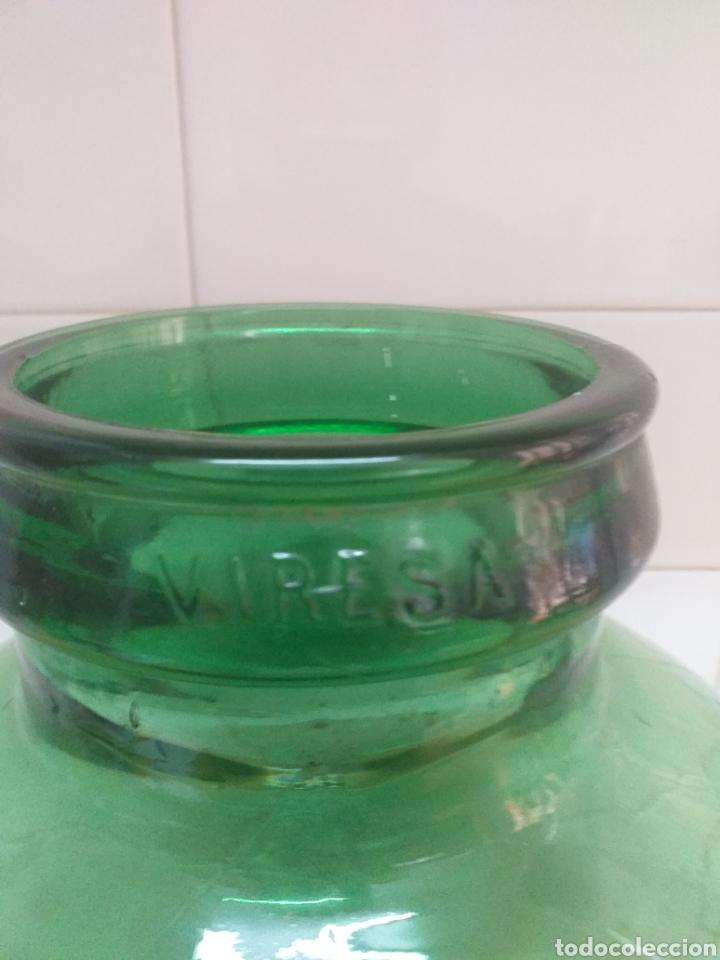 Coleccionismo Otros Botellas y Bebidas: Garrafa cristal, damajuana boca ancha 12 centímetros - Foto 2 - 195388403