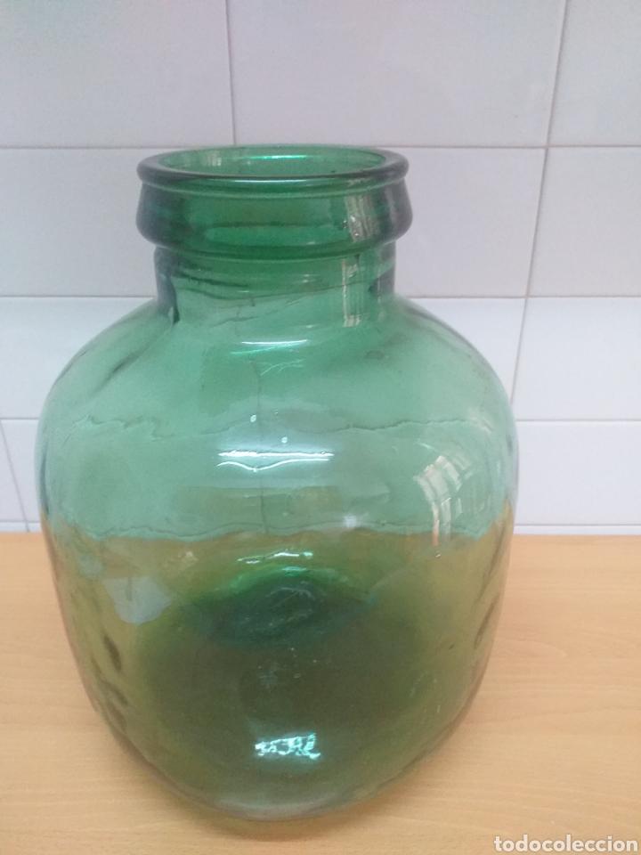 Coleccionismo Otros Botellas y Bebidas: Garrafa cristal, damajuana boca ancha 12 centímetros - Foto 4 - 195388403