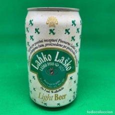 Coleccionismo Otros Botellas y Bebidas: LATA DE CERVEZA LAHKO LASKO - ESLOVAQUIA/ ZCHECH CAN BEER. Lote 195405526
