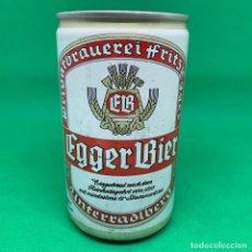 Coleccionismo Otros Botellas y Bebidas: LATA DE CERVEZA EGGER BIER - AUSTRIA/ AUSTRIAN CAN BEER . Lote 195408141