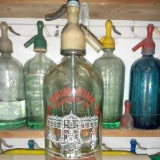 Coleccionismo Otros Botellas y Bebidas: SIFÓN LA CERVANTINA DE ALCALÁ DE HENARES // MODELO RARO. Lote 195917501