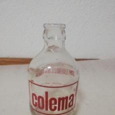 Coleccionismo Otros Botellas y Bebidas: BOTELLA DE LECHE COLEMA. MÁLAGA. 250 CC -. Lote 196143296
