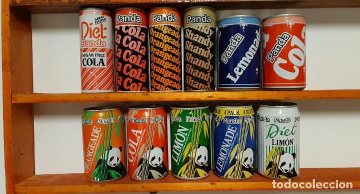 LOTE DE 11 LATAS DE REFRESCO PANDA - INGLATERRA - AÑOS 80 (Coleccionismo - Otras Botellas y Bebidas )