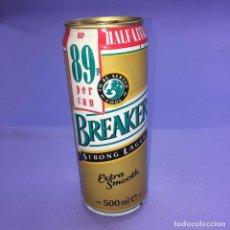 Coleccionismo Otros Botellas y Bebidas: LATA DE CERVEZA BREAKER STRONK LAGER 440ML - ESCOCIA / SCOTISH CAN BEER. Lote 210570291