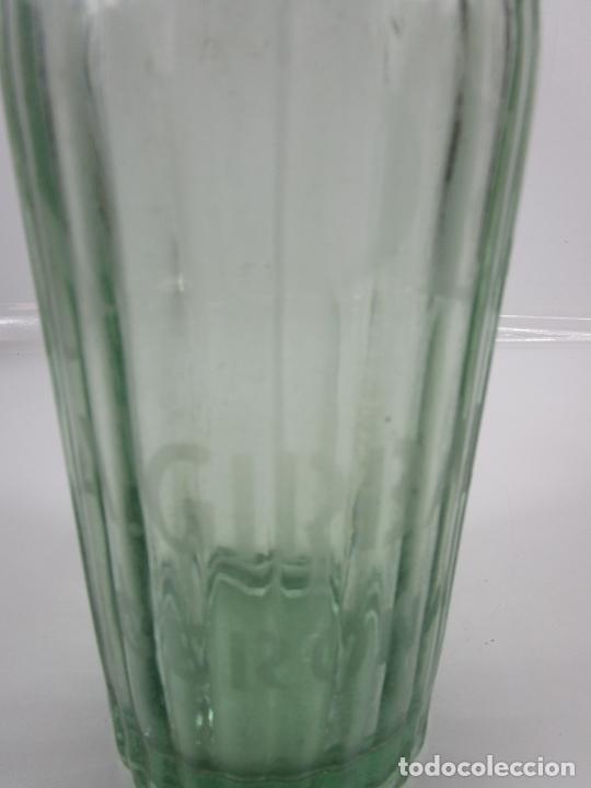 Coleccionismo Otros Botellas y Bebidas: Sifón - Marca La Ideal, A. Girbal, Gerona - Tapón de Plomo - Cristal Serigrafiado - de Colección!!! - Foto 4 - 200732887