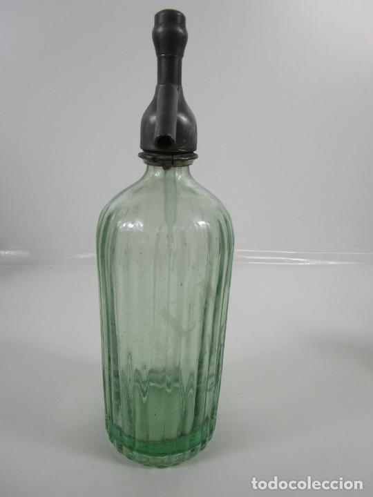 Coleccionismo Otros Botellas y Bebidas: Sifón - Marca La Ideal, A. Girbal, Gerona - Tapón de Plomo - Cristal Serigrafiado - de Colección!!! - Foto 7 - 200732887