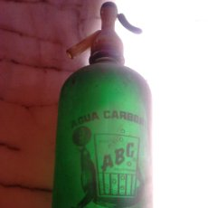 Coleccionismo Otros Botellas y Bebidas: ANTIGUA BOTELLA SIFÓN, AGUA CARBONICA,MARCA ABC,PATENT TORROJA ETERNA. Lote 201222987