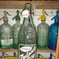 Coleccionismo Otros Botellas y Bebidas: BOTELLA DE GASEOSA DELGADO DE LA SOLANA CIUDAD REAL. Lote 202827110