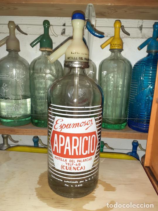 SIFÓN ESPUMOSOS APARICIO DE MOTILLA DEL PALANCAR CUENCA (Coleccionismo - Otras Botellas y Bebidas )