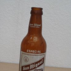 Coleccionismo Otros Botellas y Bebidas: ANTIGUA BOTELLA 1/5 DE CERVEZA SAN MIGUEL - ESPECIAL LERIDA.18 CM.. Lote 202950260