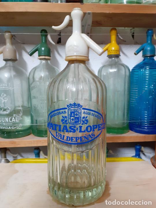 SIFÓN MATÍAS LÒPEZ DE VALDEPEÑAS (Coleccionismo - Otras Botellas y Bebidas )