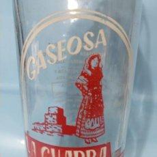 Coleccionismo Otros Botellas y Bebidas: BOTELLA DE GASEOSA LA CHARRA MIROBRIGUENSE ANTIGUA Y MUY RARA. Lote 204220408