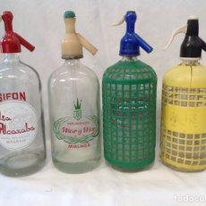 Coleccionismo Otros Botellas y Bebidas: LOTE DE SIFONES DE CRISTAL VARÍAS MARCAS. Lote 205409307