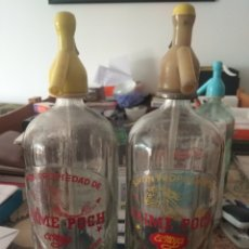 Coleccionismo Otros Botellas y Bebidas: JUEGO SIFONES JAIME POCH EL NOYA IGUALADA. Lote 205812565
