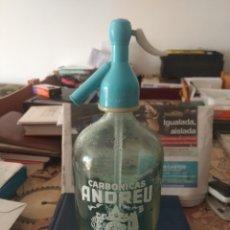 Coleccionismo Otros Botellas y Bebidas: SIFÓN CARBONICAS ANDREU VILARRODONA. Lote 205813385