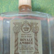 Coleccionismo Otros Botellas y Bebidas: BOTELLA DE COLONIA ROYALE AMBREE. Lote 207363013
