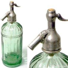 Coleccionismo Otros Botellas y Bebidas: SIFÓN CABEZA DE PLOMO CABANELLA-NAVIA, ASTURIAS. Lote 208886091