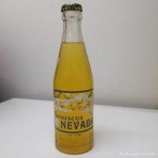 Coleccionismo Otros Botellas y Bebidas: BOTELLA CON CHAPA DE GRANADA SIERRA NEVADA ANTIGUA GASEOSA REFRESCO PUEBLO JEREZ DEL MARQUESADO. Lote 209593515