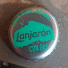 Coleccionismo Otros Botellas y Bebidas: TAPÓN CORONA CHAPA LANJARON CON GAS. Lote 210420941