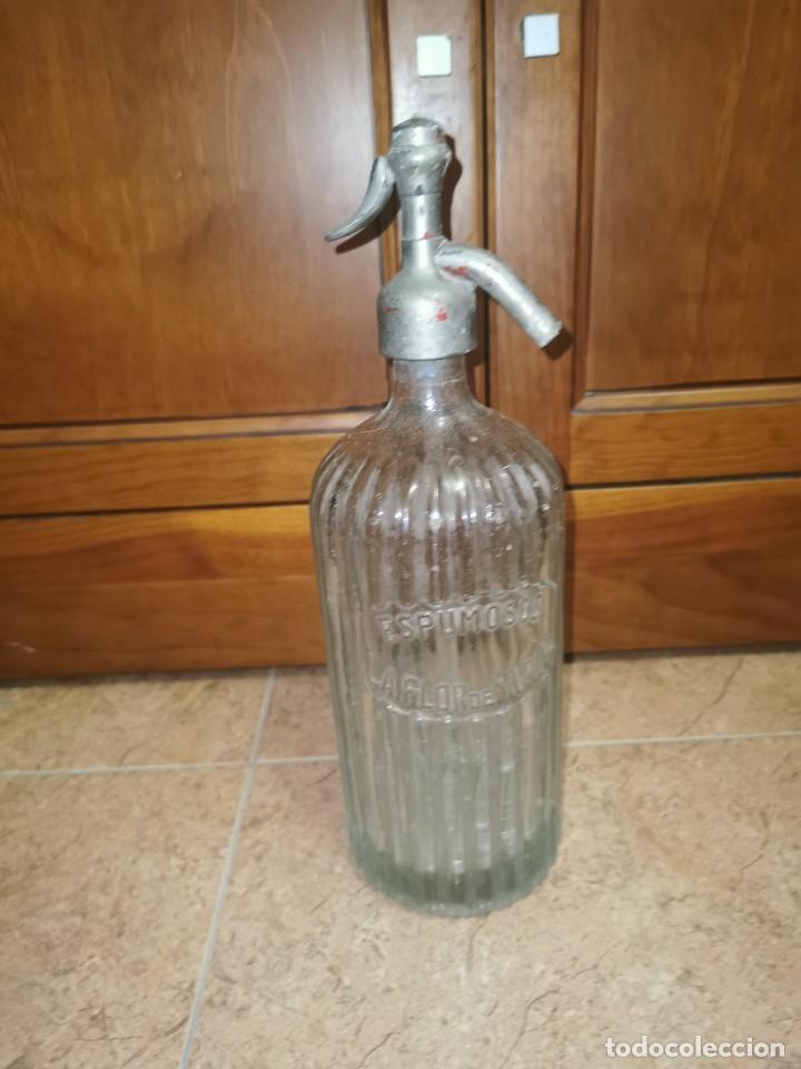 ANTIGUO SIFÓN ESPUMOSOS FLOR DE MURCIA (Coleccionismo - Otras Botellas y Bebidas )