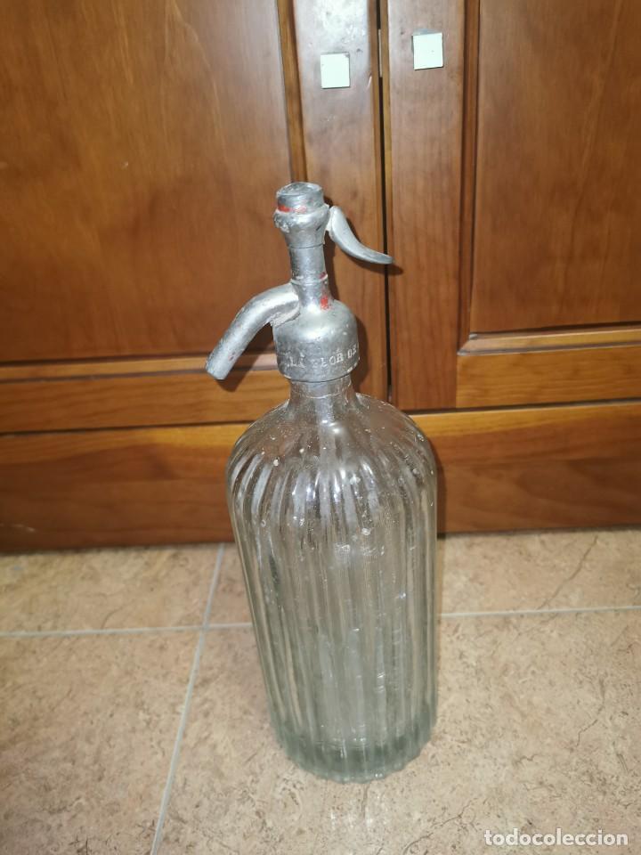 Coleccionismo Otros Botellas y Bebidas: Antiguo sifón espumosos flor de Murcia - Foto 2 - 210713240
