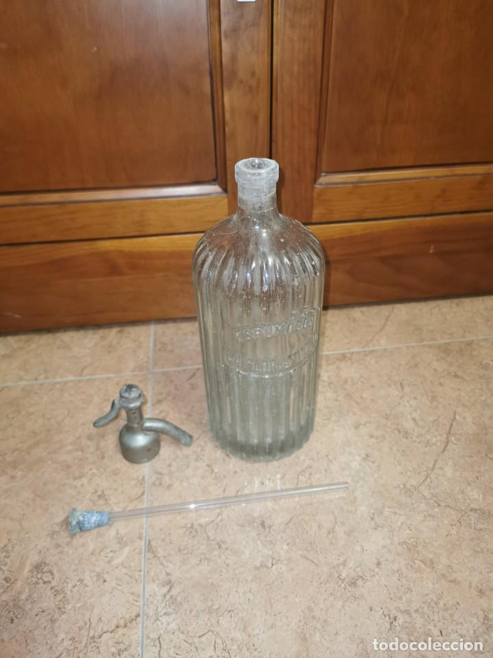 Coleccionismo Otros Botellas y Bebidas: Antiguo sifón espumosos flor de Murcia - Foto 3 - 210713240