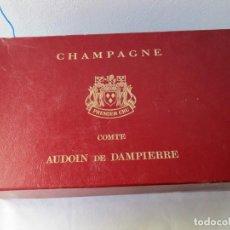 Coleccionismo Otros Botellas y Bebidas: ANTIGUA CAJA DE CHAMPAGNE COMTE AUDOIN DE DAMPIERRE VACIA ( CTC ). Lote 214720885